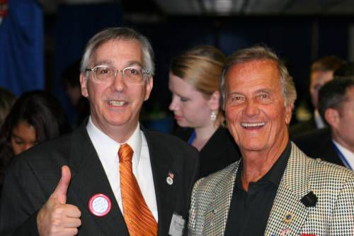 Noon March 2, 2007, America's world class country singer and author of Pat Boone's America: 50 Years, endorses Eugene Delgaudio for re-election. Mr. Boone, age 72, is considering a run for the presidency.